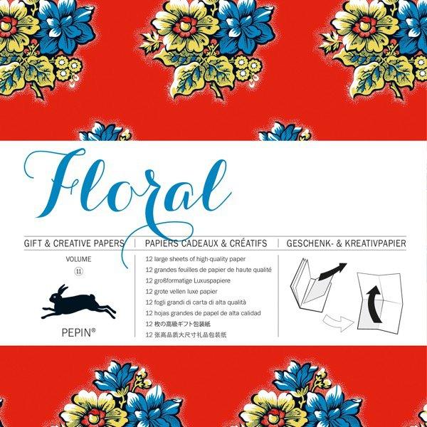 12 unikátních balicích papírů Floral