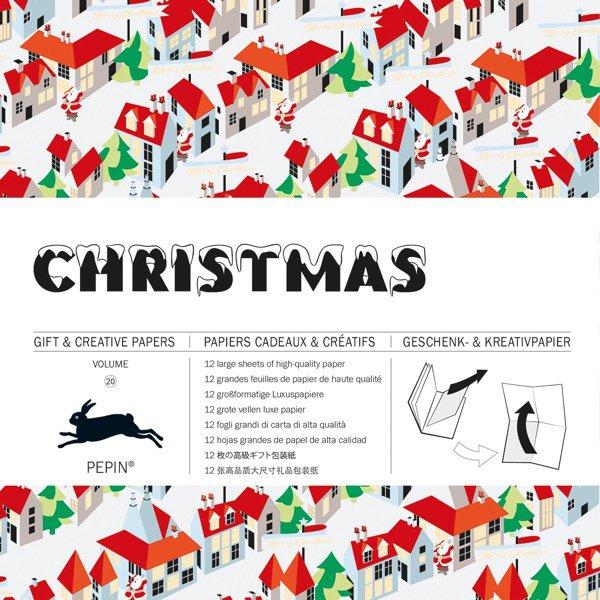 12 unikátních balicích papírů Christmas