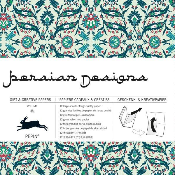 12 unikátních balicích papírů Persian design