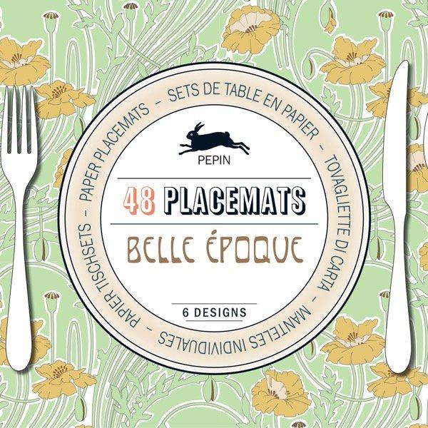 48 papírových prostírání Belle Époque