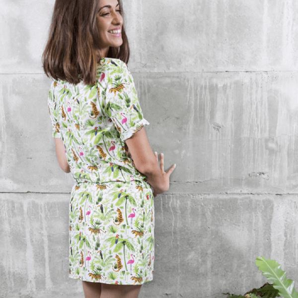 Šaty s motivy džungle Chemises – L c18957b9a7