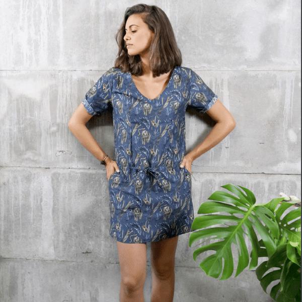 Šaty s motivy noční džungle Chemises – L 97dcc15237
