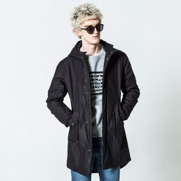 Černý kabát Cage Cheap Monday S