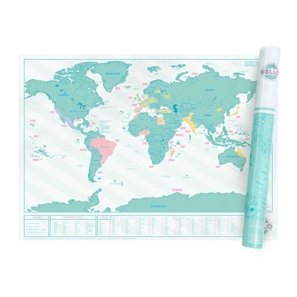 Luckies stírací mapa světa Hello edition