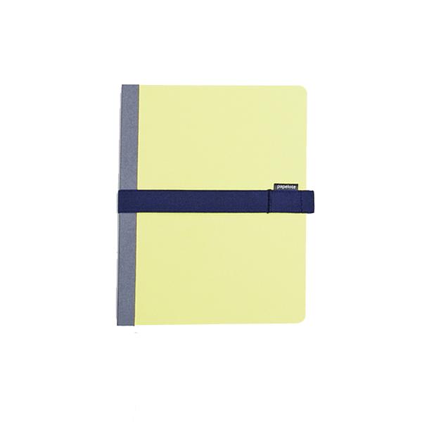 Blok Kombiné B6 s modrou gumičkou – žlutý