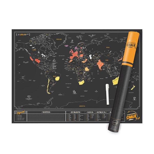 Luckies stírací mapa CHALK EDITION