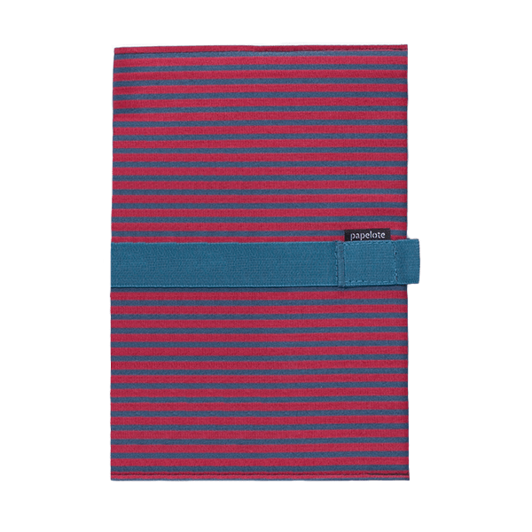 Zápisník - červeno-modrý proužek - čistý