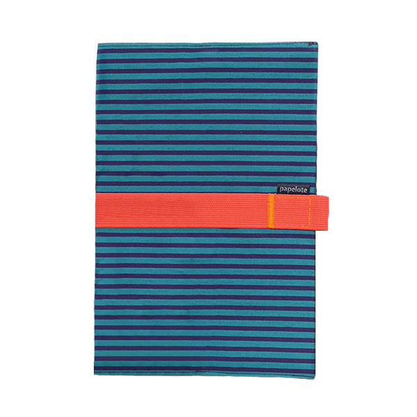 Zápisník - modro-modrý proužek - úzké linky