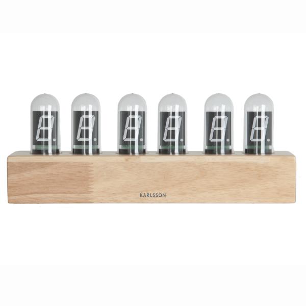 Stolní hodiny Cathode – dřevěné