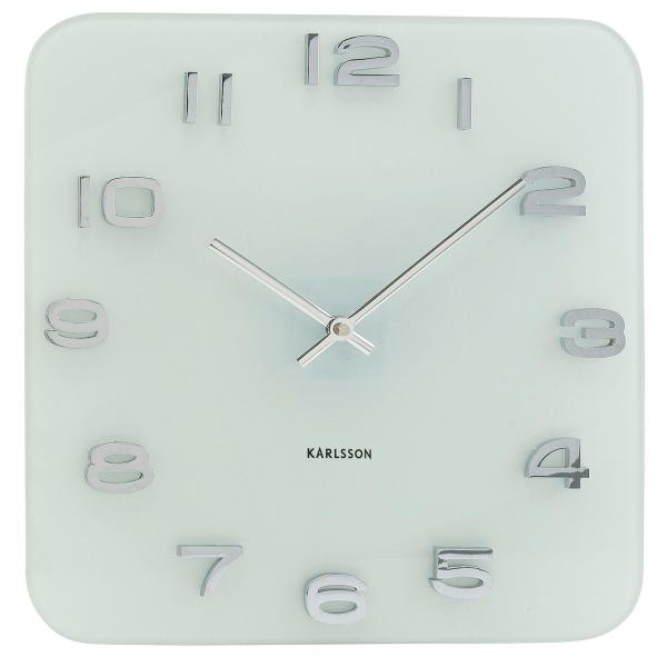 Nástěnné hodiny Vintage - skleněné