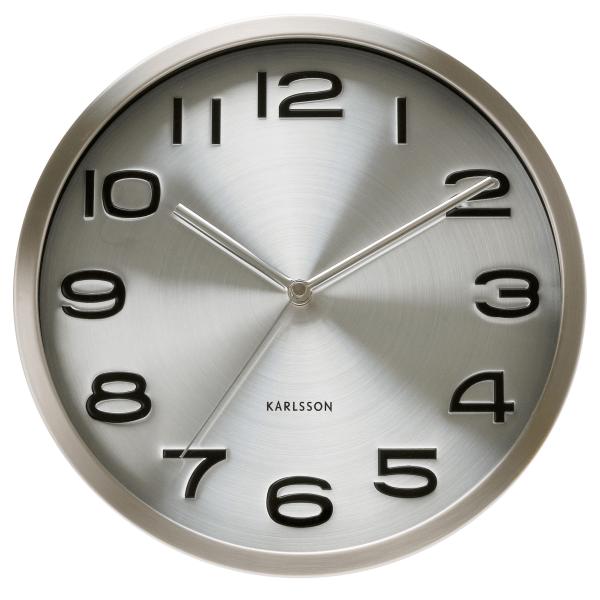 Nástěnné hodiny Maxie – stříbrné