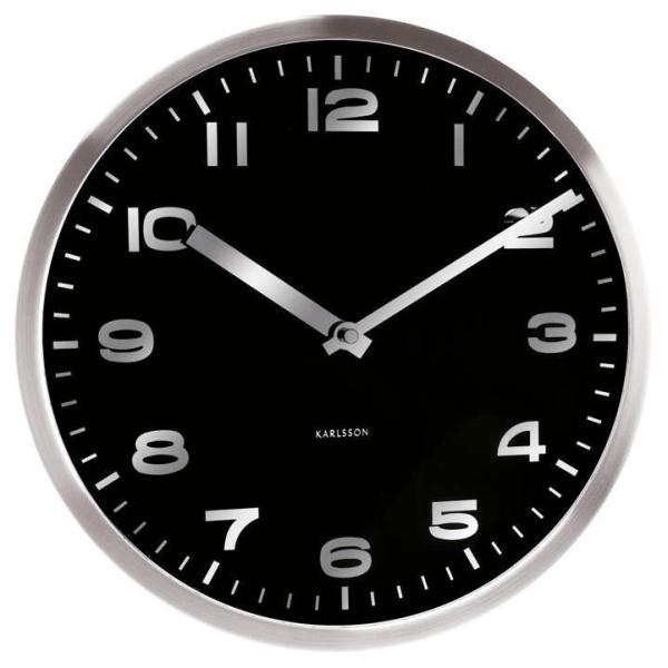 Nástěnné hodiny Mirror - černé