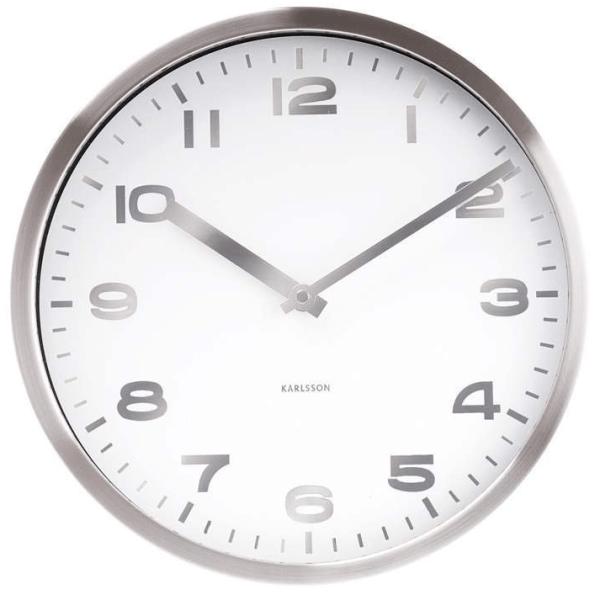 Nástěnné hodiny Mirror - bílé