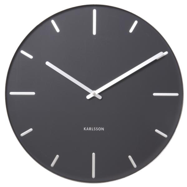 Nástěnné hodiny Belt - černé