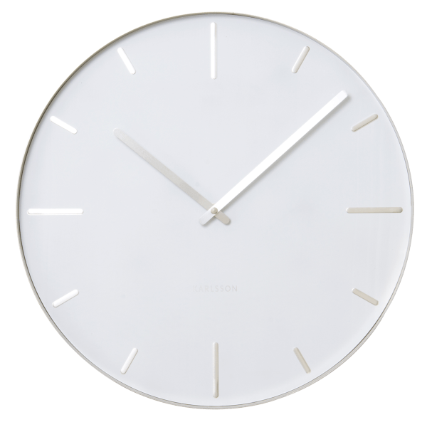 Nástěnné hodiny Belt - bílé