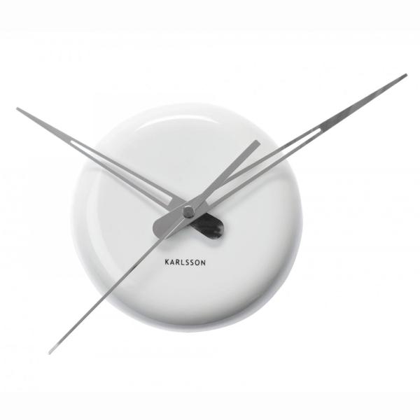 Nástěnné hodiny Ceramic Dot - bílé