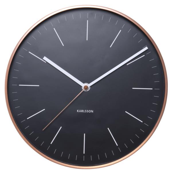 Nástěnné hodiny Minimal - černé