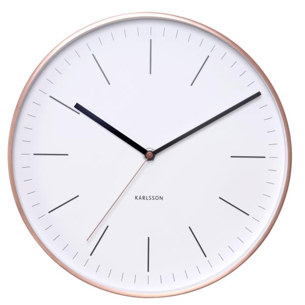 Nástěnné hodiny Minimal - bílé