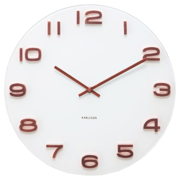 Nástěnné hodiny Vintage kulaté - bílé