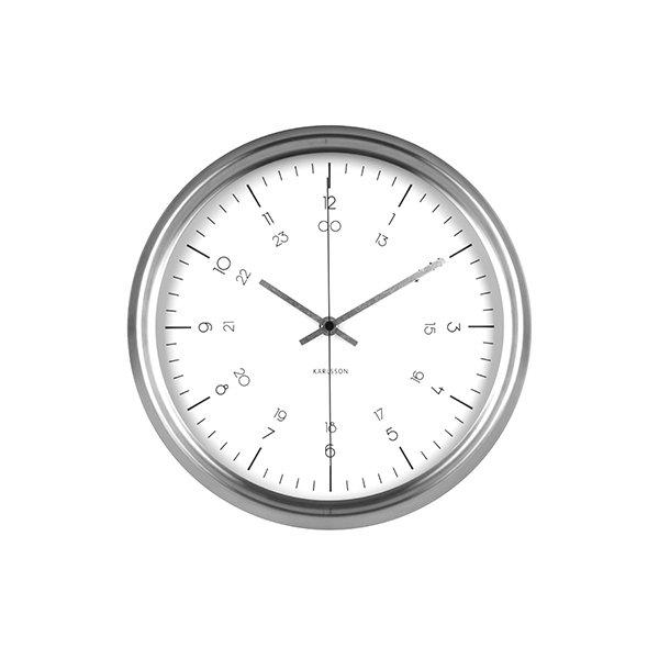Nástěnné hodiny Nautical - bílé
