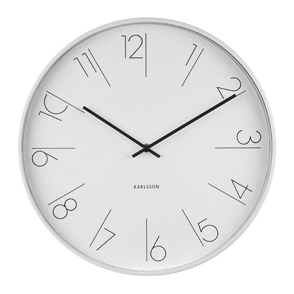 Nástěnné hodiny Elegant Numbers - bílé