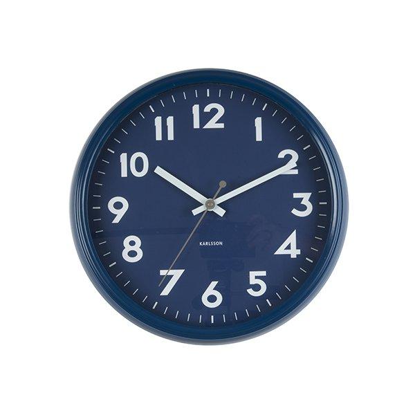 Nástěnné hodiny Badge – tmavě modré