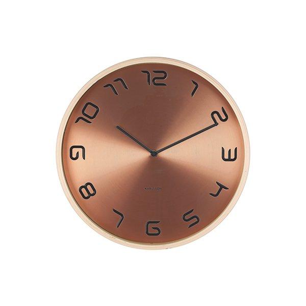 Nástěnné hodiny Bent wood – mědené