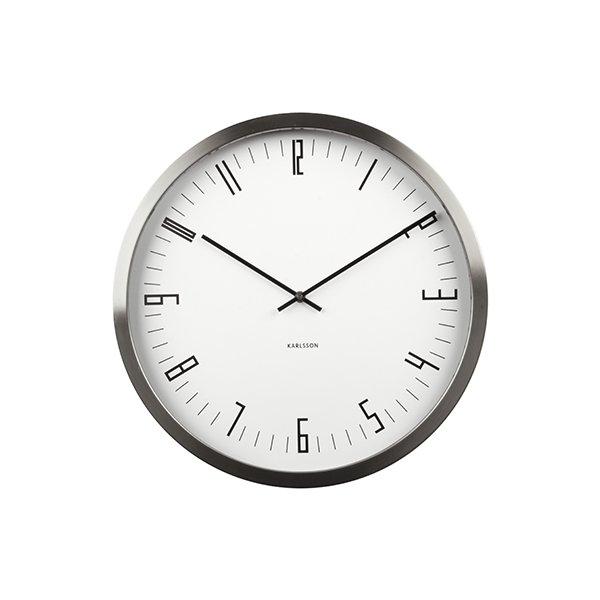 Nástěnné hodiny Cased Index - bílé