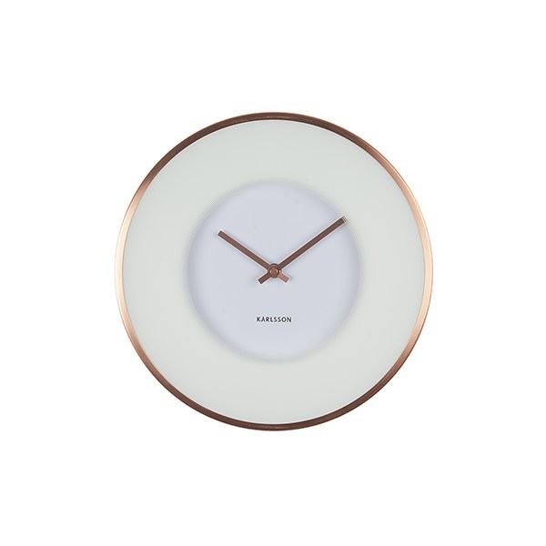 Nástěnné hodiny Illusion - bílé