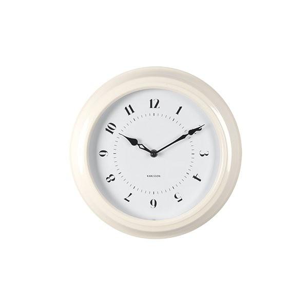 Nástěnné hodiny Fifties – bílé