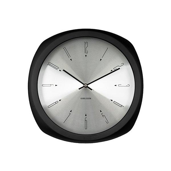 Nástěnné hodiny Aesthetic – černé