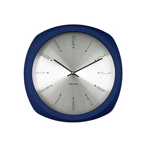 Nástěnné hodiny Aesthetic - tmavě modré
