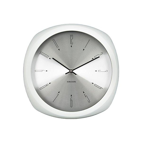Nástěnné hodiny Aesthetic - bílé