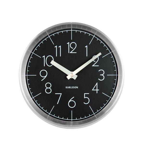 Nástěnné hodiny Convex - černé
