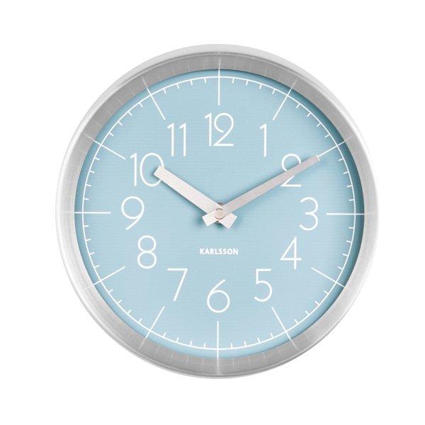 Nástěnné hodiny Convex - modré