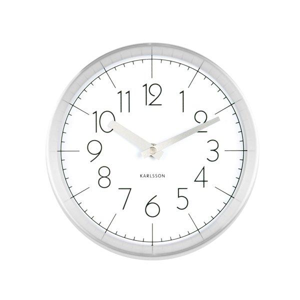 Nástěnné hodiny Convex - bílé