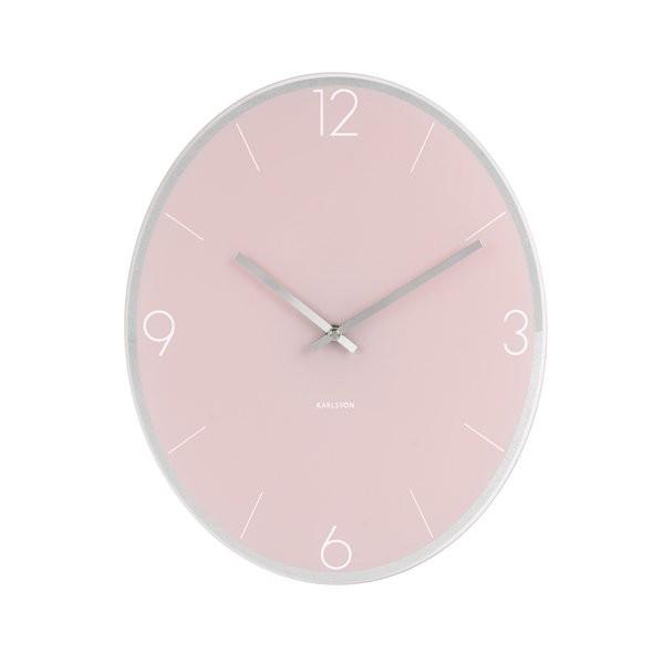 Nástěnné hodiny Elliptical - růžové
