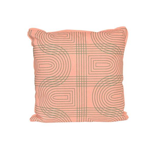 Polštář Retro Grid čtvercový - růžový