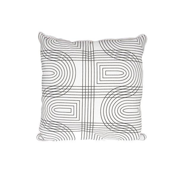 Polštář Retro Grid čtvercový - bílý