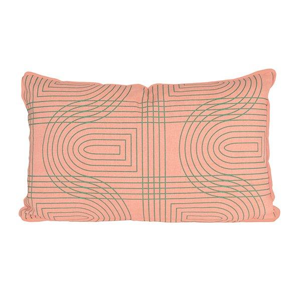 Polštář Retro Grid obdélníkový - růžový