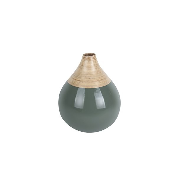 Dekorační váza Bamboo Bell L - zelená