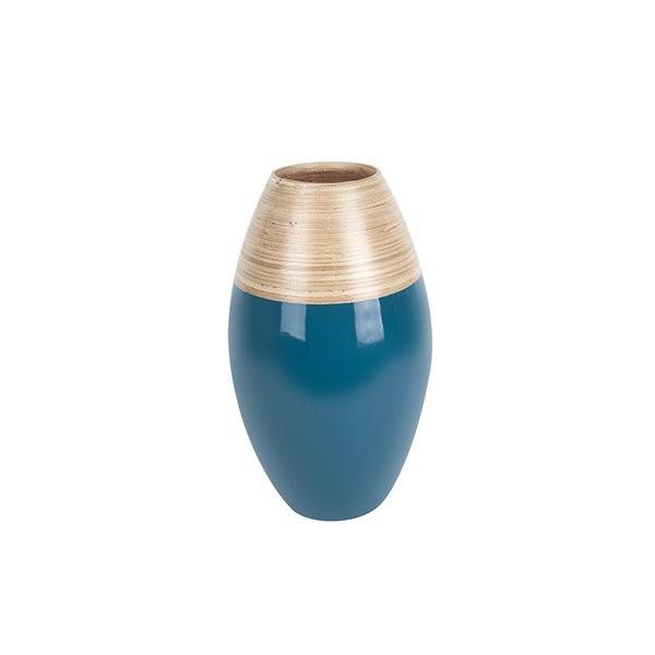 Dekorační váza Bamboo Cone S - modrá