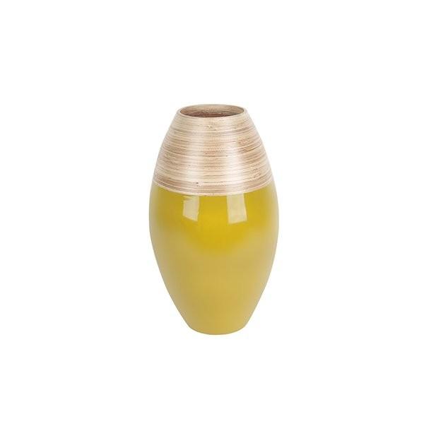 Dekorační váza Bamboo Cone S - olivová