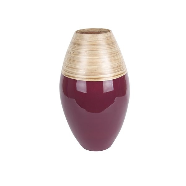 Dekorační váza Bamboo Cone L - červená