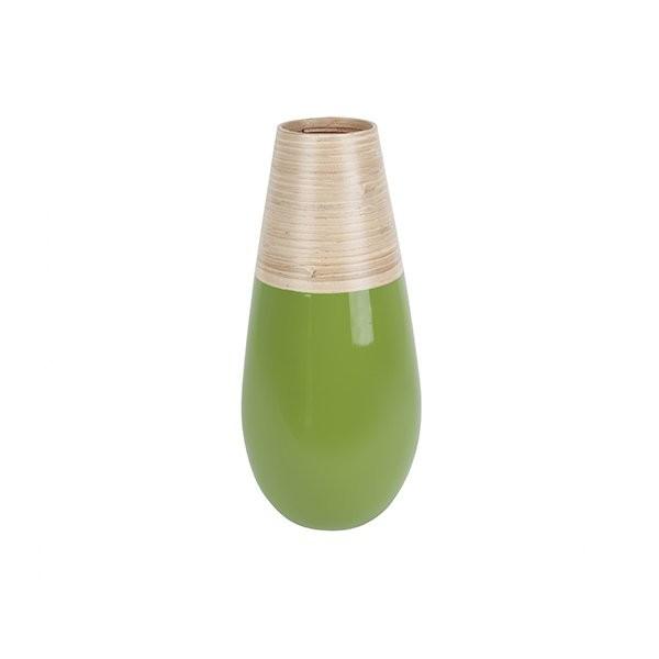Dekorační váza Bamboo Drop S - zelená
