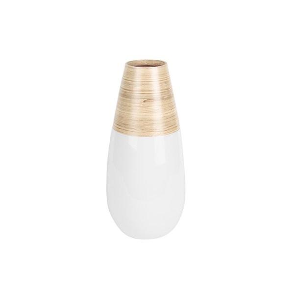 Dekorační váza Bamboo Drop S - bílá