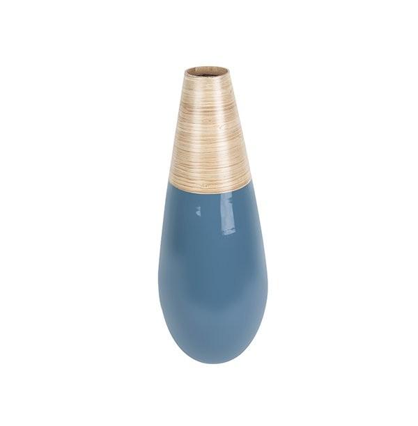 Dekorační váza Bamboo Drop L - modrá
