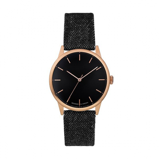 Hodinky Make Equal Denim Rose Gold/Black