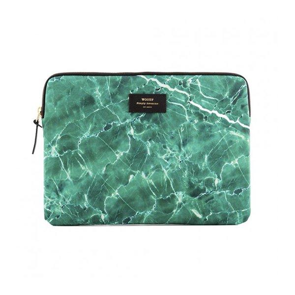 "Pouzdro na notebook 13"" - Green Marble"