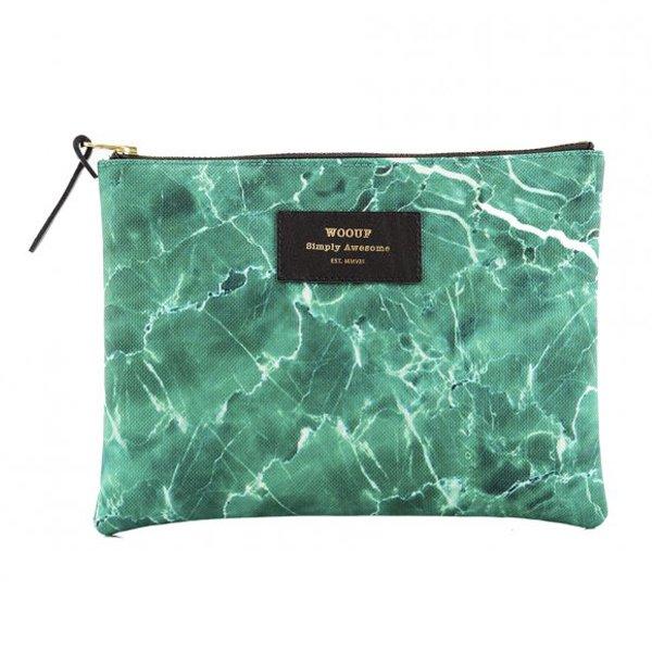 Pouzdro velké - Green marble